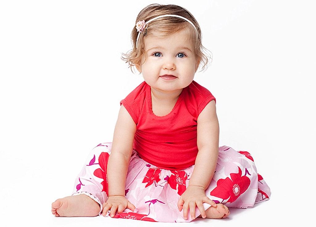 Nepali Cute Girl Wallpaper Baby Wearing Red Dress