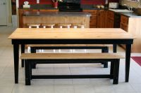 black bench for kitchen table farm kitchen table for ...