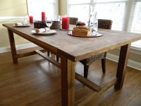 Farmhouse Wooden Kitchen Tables As Ageless Rustic Interior ...