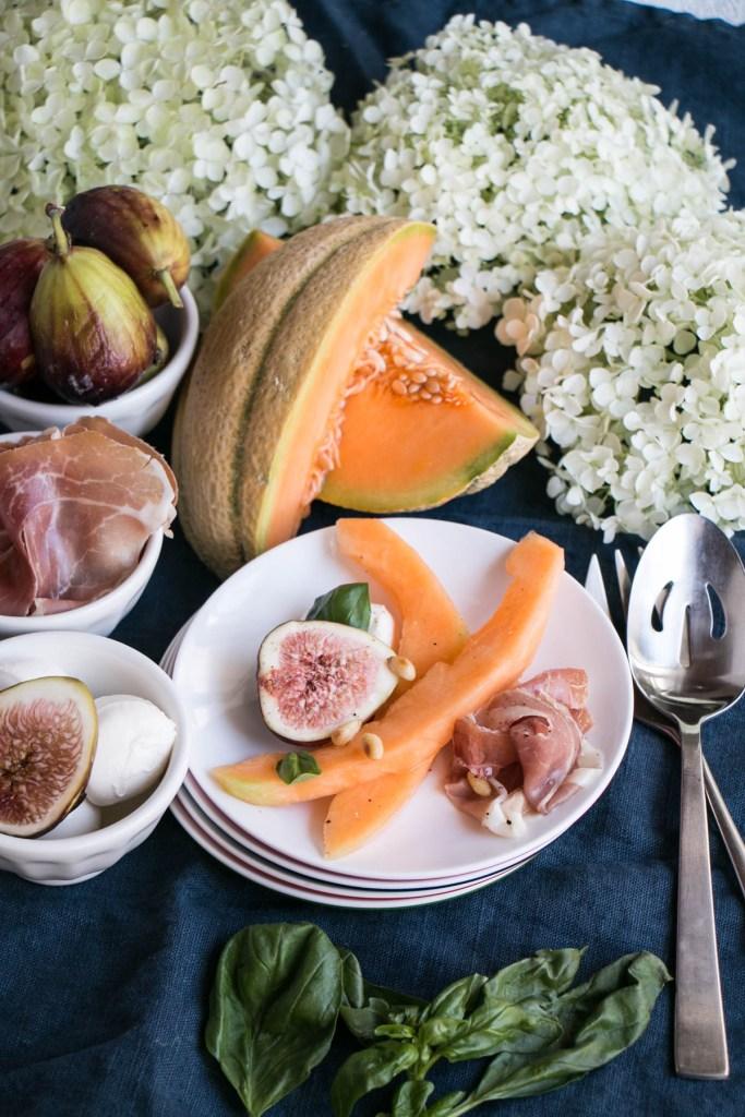 Melon, Fig and Prosciutto Salad | My Kitchen Love