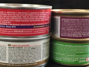cat food labels