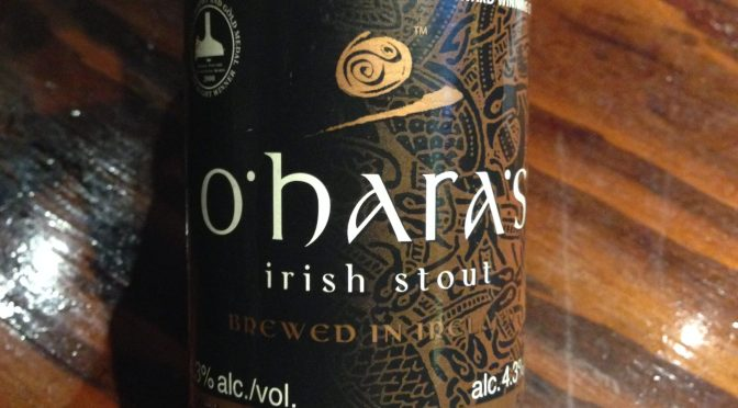 Irish Stout – Carlow O'Hara's Brewery