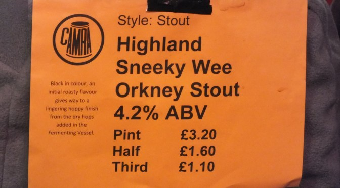 Sneeky Wee Orkney Stout - Highland Brewery