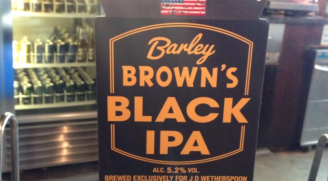 Barley Brown's Black IPA – Baker City (Caledonian) Brewery