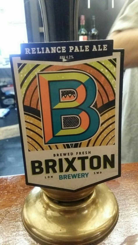 Reliance Pale Ale - Brixton Brewery