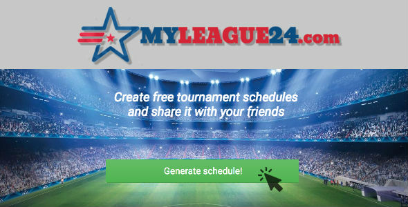 MyLeague24 - Create free tournament schedules and share it with