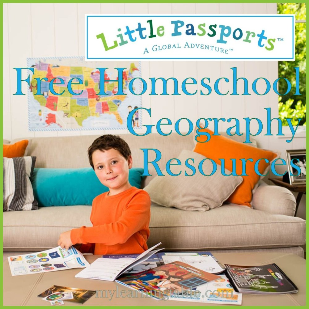 Free Homeschool Geography Resources mylearningtable.com