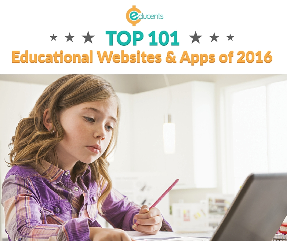 Top 101 Educational Websites & Apps of 2016 mylearningtable.com