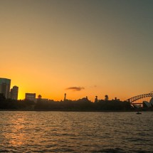 opera house&harbour bridge sunset