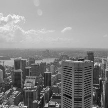 sydney tower black&white