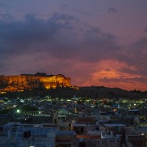 Jodhpur-rooftop view @ dusk at fort