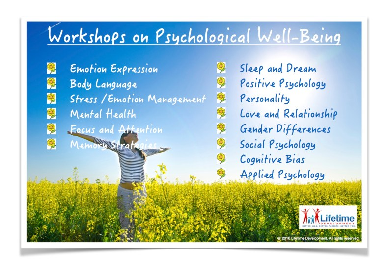 201607 Workshop on Psychological Well-being English