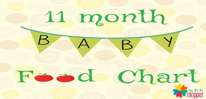 11 months Baby Food Chart and Meal Plan - My Little Moppet