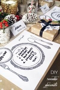 DIY :: Reusable Table Setting Placemats  My Little Secrets
