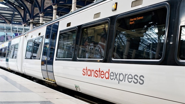 La tratta Stansted-Londra è servita dallo Stansted Express