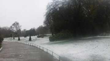 Hyde park sotto la neve