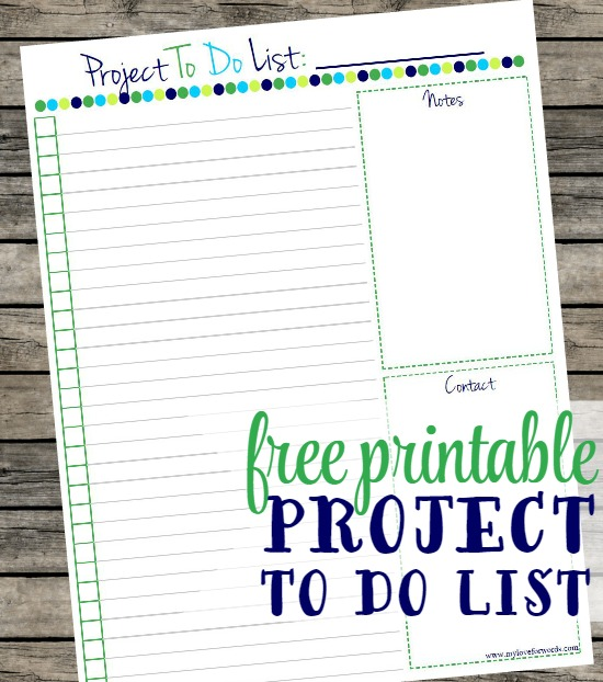 Project To Do List Free Printable! - project to do list templates