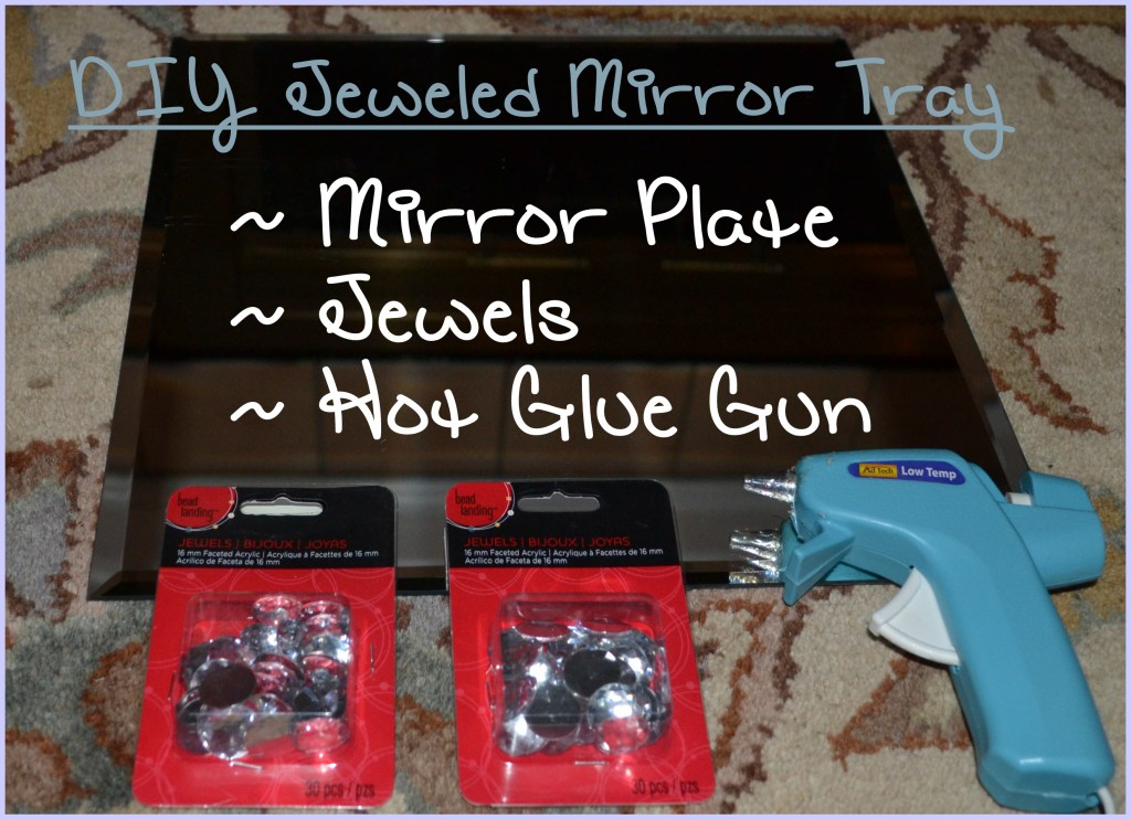 """DIY Jeweled Mirror Project"""