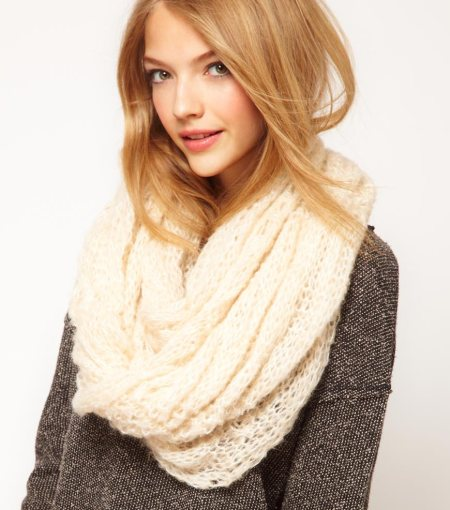 """Textured Knit Snood Scarf"""