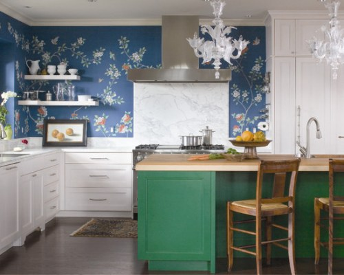 """Ultramarine Green Kitchen"""