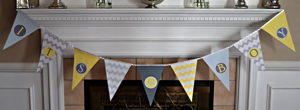 """DIY Baby Shower Pennant Banner"""