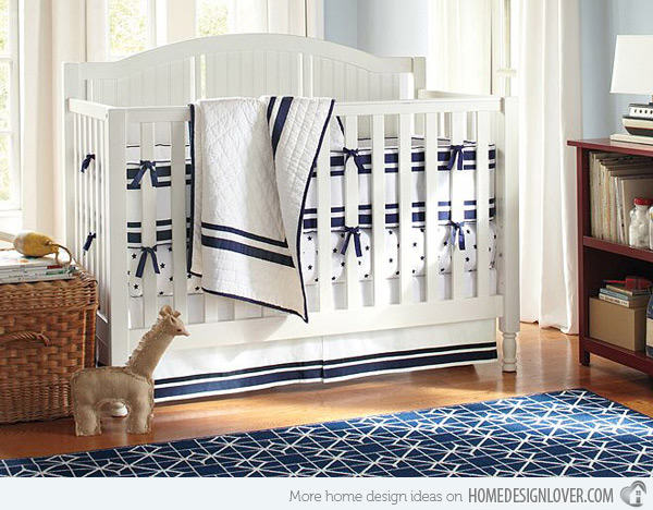 """navy and white nursery"""