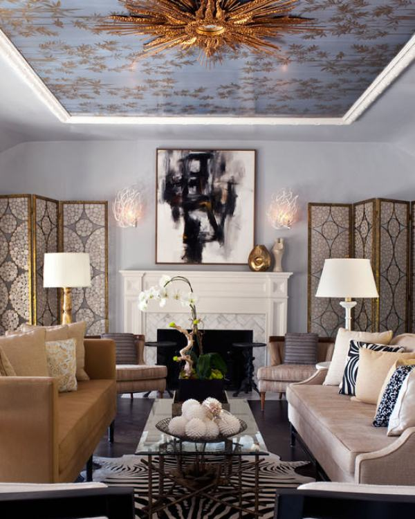 """Hollywood Regency Living Room"""