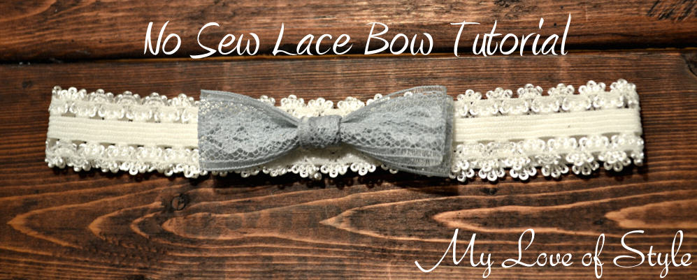 """No Sew Lace Bow Tutorial"""