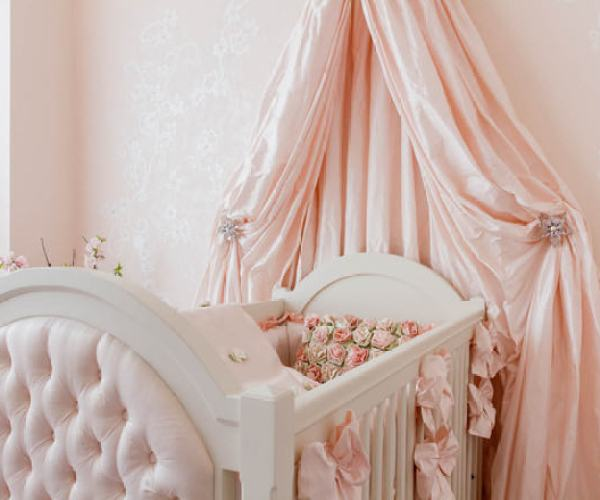 """Pale Pink Crib Canopy"""