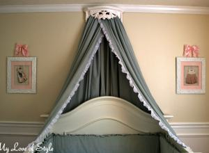 DIY Bed Crown and Canopy