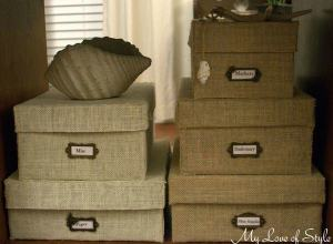 DIY Burlap Storage Box