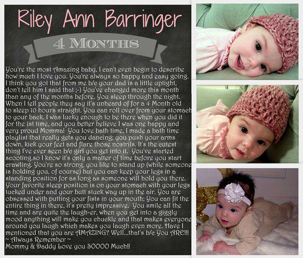 Letter to Baby Riley at 4 Months