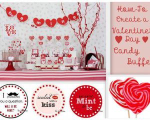 How to create a Valentine's Day candy buffet