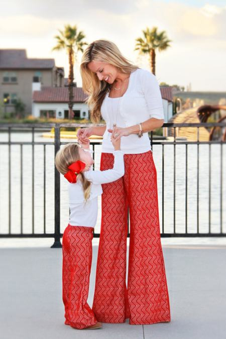 mommy and me palazzo pants