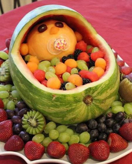 Baby Watermelon and Fruit Centerpiece
