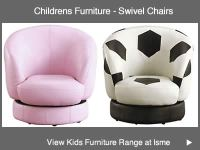 Childrens Seating Pink Swivel Chair, Kids Football Chairs ...