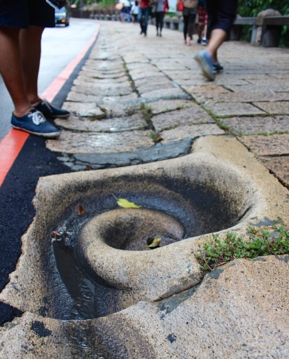 Swirly sewer drain