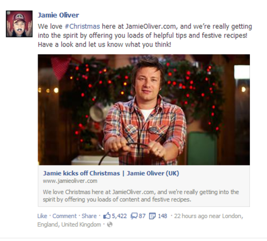 Jamie Oliver - Christmas Recipe Campaign