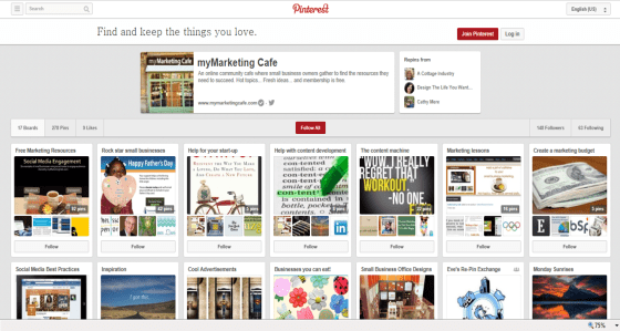 Pinterest and small business marketing_myMarketing Cafe