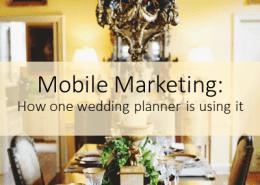 Mobile Marketing for Weddings