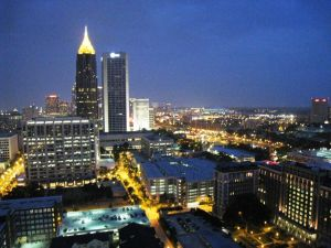 Balcony View From Midtown Atlanta Condo