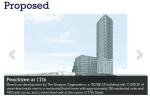 Peachtree and 17th Proposed Building May 21, 0215