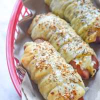 Cheesy Everything Dogs in a Blanket