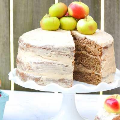 Apple Layer Cake With Bourbon Butterscotch Buttercream