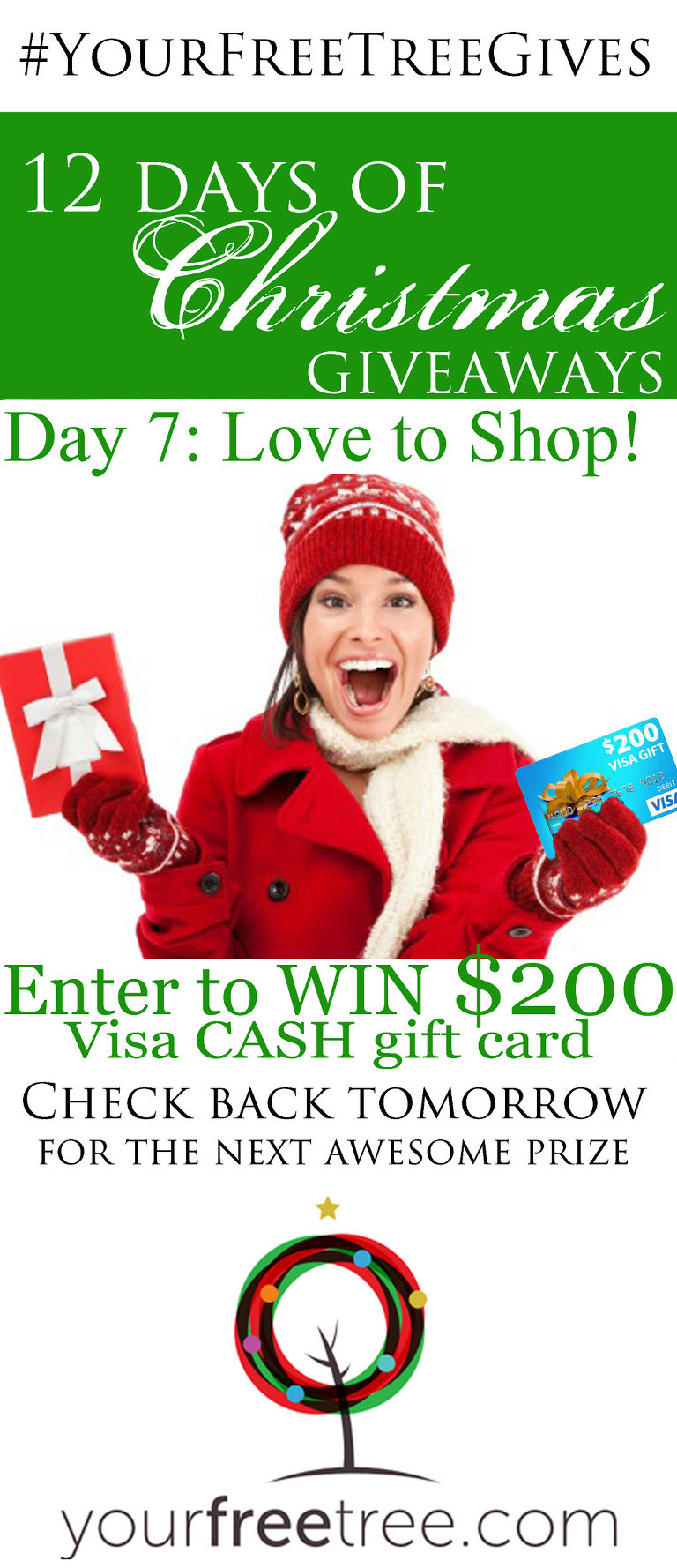 Cash prize giveaway 12 days of christmas