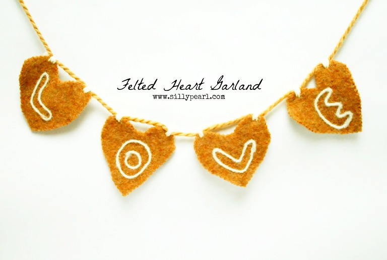 Felted Heart Garland -- The Silly Pearl