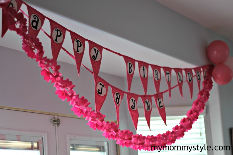 pink birthday, tea party, mymommystyle, sign, birthday