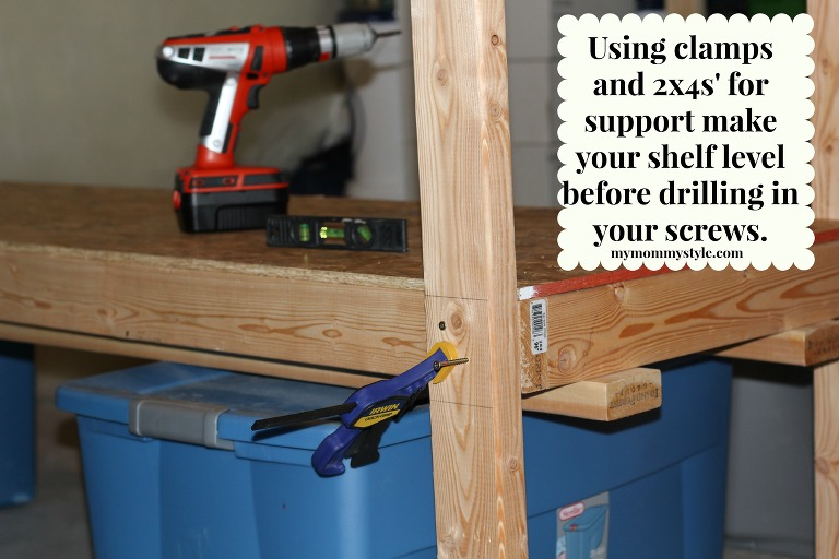 Leveling Out Shelves, How To Build Storage Shelves, DIY, Home Depot,  Mymommystyle