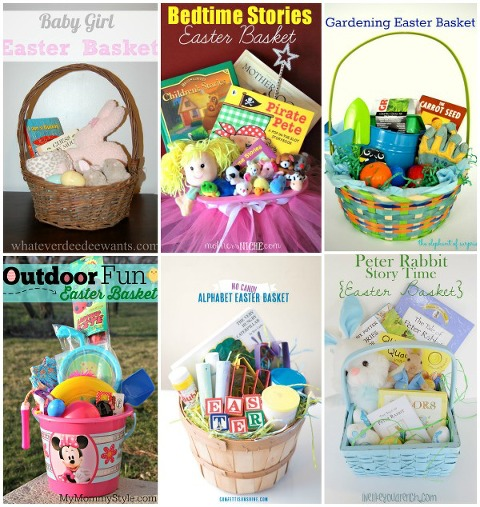 Candy free easter basket ideas my mommy style easter basket collage negle Gallery
