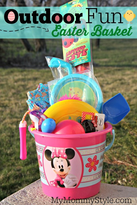 Candy free easter basket ideas my mommy style outdoor fun easter basket negle Gallery